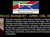 Annual Alumi Banquet – April 12th, 2013