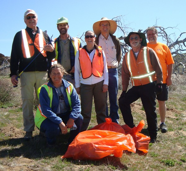 Alumni trash pickup crew 2013