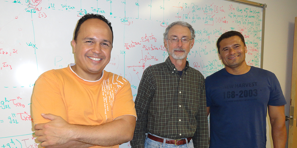 Visiting Faculty Otilio Rojas and Jaime Parada from Universidad Central de Venezuela