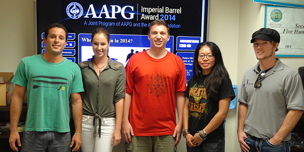AAPG presents SDSU's 2014 IBA Team