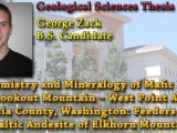 THESIS ON DEMAND: George Zack – The Chemistry and Mineralogy of Mafic Dikes in the Lookout Mountain – West Point Area, Skamania County, Washington: Feeders for the Basaltic Andesite of Elkhorn Mountain?