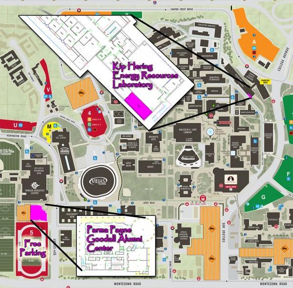 SDSU Alumni Banquet Map 2015