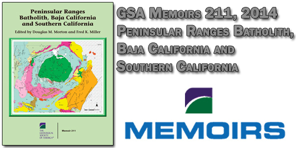 GSA Memoirs 211 – Peninsular Ranges Batholith, Baja California and Southern California