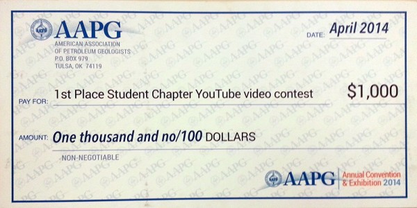 SDSU's AAPG Student Chapter Wins the 2014 YouTube Video Contest