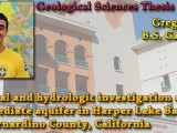 THESIS DEFENSE: May 8th @ 10:00am – Greg Collins – Chemical and hydrologic investigation of the intermediate aquifer in Harper Lake Basin, San Bernardino County, California