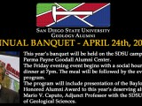 Department Alumni Banquet – April 24th, 2015
