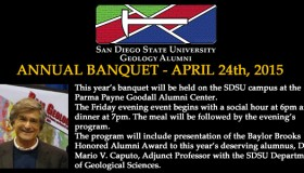 Department Alumni Banquet – April 24th, 2015