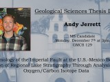 Thesis Defense: Andy Jerrett