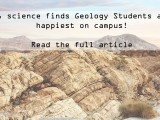 Forbes finds geology students are the happiest on campus