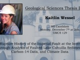 Thesis Defense: Kaitlin Wessel