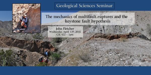 Seminar: Dr. John Fletcher – April 13th at 1pm