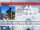 Thesis Defense – Jack Brown
