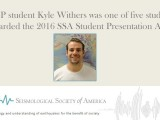 Kyle Withers delivers an outstanding presentation at the 2016 SSA Annual Meeting