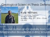 Thesis Defense – Kyle Withers (PhD)