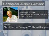 Seminar – George Jiracek