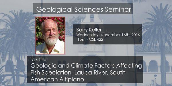 Seminar – Barry Keller