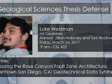 Thesis Defense – Luke Weidman (MS)