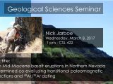 Seminar – Nick Jarboe