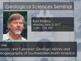 Seminar – Ron Blakey May 3, 2017