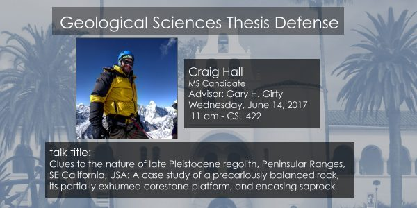 Thesis Defense – Craig Hall MS