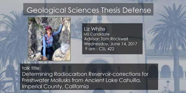Thesis Defense – Liz White MS