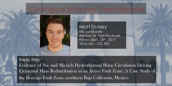Thesis Defense – Matt Dorsey MS