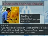Seminar – Dan Ellerton