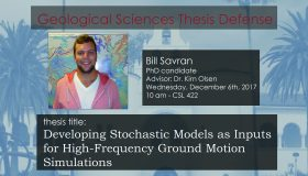 Thesis Defense – Bill Savran (PhD)