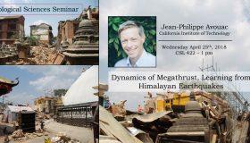 Seminar – Jean-Philippe Avouac