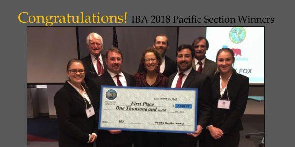 IBA Pacific Section Winners – 2018