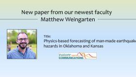New Paper – Matthew Weingarten