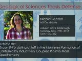 Thesis Defense – Nicole Fenton (MS)