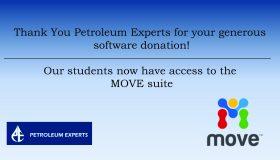 Software Donation – Petroleum Experts