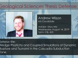 Thesis Defense – Andrew Wilson MS