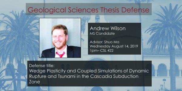 Thesis Defense – Andrew Wilson MS