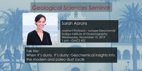 Seminar – Sarah Aarons