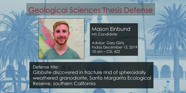 Thesis Defense – Mason Einbund