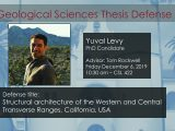 Thesis Defense – Yuval Levy