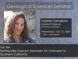 Seminar – Valerie Sahakian