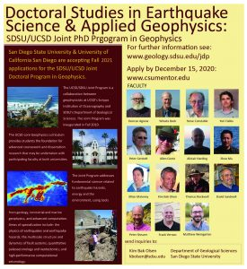 Poster to advertise for the Joint Doctoral Program in Geophysics