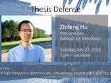 Thesis Defense – Zhifeng Hu (PhD)