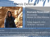 Thesis Defense – Xiomara Rosenblatt MS